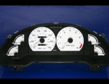 1993-1997 Ford Probe GT White Face Gauges