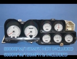 1972-1973 Ford Ranchero GT Torino White Face Gauges