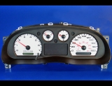 2004-2009 Ford Ranger METRIC KPH KMH White Face Gauges