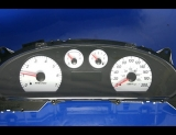 2004-2005 Ford Taurus Sable METRIC KPH KMH White Face Gauges