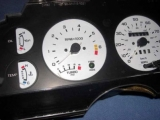 1987-1988 Ford Thunderbird Turbo Coupe White Face Gauges