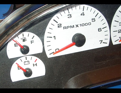 2004-2008 Ford F150 White Face Gauges F-150 04-08