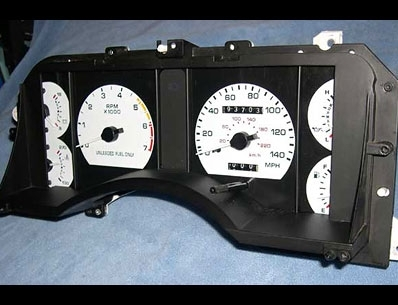 click here for Ford white gauges