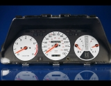 1987-1989 Honda Accord White Face Gauges