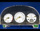 1990-1993 Honda Accord White Face Gauges