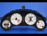 1993-1997 Honda Civic del Sol White Face Gauges