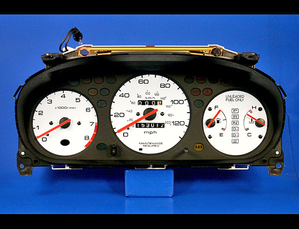 1996 2000 Honda Civic Ex Lx White Face Gauges Whitegaugesnet