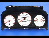1996-2001 Honda CR-V Manual White Face Gauges