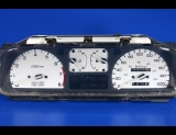 1988-1989 Honda CRX METRIC KPH KMH White Face Gauges