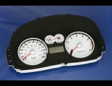 2003-2006 Hyundai Tiburon METRIC White Face Gauges Tuscani