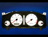 2000-2002 Infiniti G20 No Screw Holes White Face Gauges