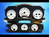 1998-2003 Jaguar XJ8 White Face Gauges