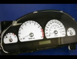 2003-2004 Jaguar S Type METRIC White Face Gauges KMH KPH