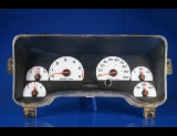 2001-2002 Jeep Wrangler White Face Gauges