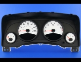 2009-2014 Jeep Patriot 120 MPH White Face Gauges