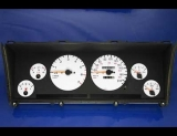 1992-1995 Jeep Grand Cherokee Metric KPH White Face Gauges