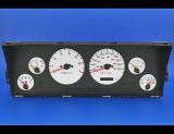 1996-1998 Jeep Grand Cherokee METRIC KPH KMH White Face Gauges