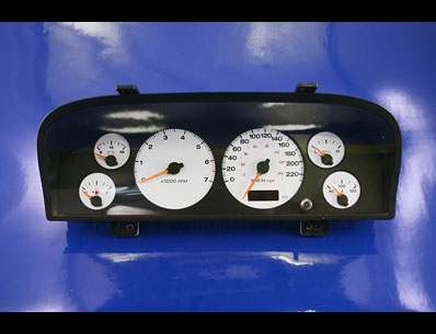 2002 2004 Jeep Grand Cherokee Metric White Face Gauges Kmh