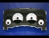 2007-2008 Jeep Patriot White Face Gauges