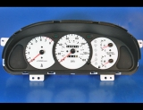 2000-2001 Kia Sephia Unleaded Fuel White Face Gauges 00-01