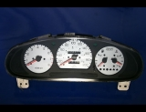 1998-2000 Kia Sportage METRIC KPH KMH White Face Gauges