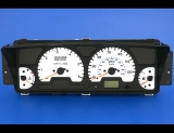 1999-2002 Land Rover Discovery White Face Gauges