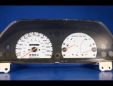1990-1994 Mazda Protege White Face Gauges