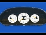 1995-1996 Mazda Protege DX LX Auto White Face Gauges