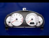 2003-2007 Mazda 6 METRIC KMH KPH White Face Gauges 03-07