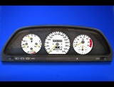 1984-1993 Mercedes W126 320 METRIC KPH KMH White Face Gauges