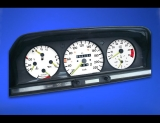 1984-1993 Mercedes W201 METRIC KPH KMH White Face Gauges