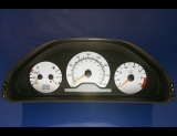 1997-1999 Mercedes W210 E320 E420 E430 White Face Gauges