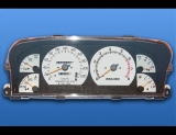 1990-1992 Mercury Capri METRIC KPH KMH White Face Gauges