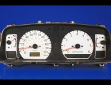 1998-2003 Mitsubishi Montero Sport White Face Gauges