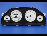 1996-1998 Mitsubishi Galant White Face Gauges 96-98