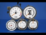 1970-1976 Nissan 240Z 260Z 280Z Manual White Face Gauges
