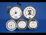 1970-1976 Nissan 240Z 260Z 280Z Automatic METRIC KPH KMH White Face Gauges