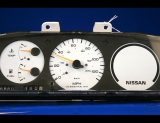 1989-1992 Nissan Stanza Non-Tach White Face Gauges