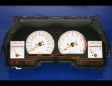 1984-1986 Nissan 300zx Metric KPH Z32 White Face Gauges