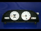 1993-1997 Nissan Altima METRIC KMH KPH White Face Gauges