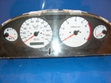 2000-2001 Nissan Xterra Frontier White Face Gauges 00-01