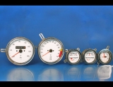 1968-1973 Opel GT w=1062 White Face Gauges