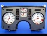 1984-1985 Pontiac Fiero METRIC KPH KMH GT Coupe White Face Gauges