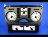 1986-1988 Pontiac Fiero 120 MPH SE GT V6 Coupe White Face Gauges