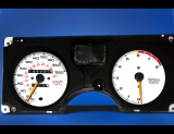 1986-1992 Pontiac Firebird 220 METRIC KPH KMH White Face Gauges
