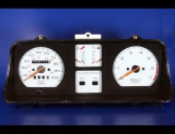 1988-1993 Pontiac LeMans White Face Gauges