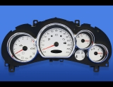 2005-2008 Pontiac G6 METRIC KPH KMH 7K Tach White Face Gauges