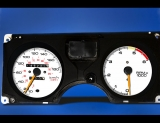 1986-1992 Pontiac Firebird 180 KMH METRIC KPH White Face Gauges