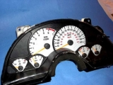 1997-1998 Pontiac Firebird 120 MPH V6 White Face Gauges