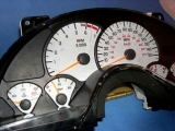 1999-2002 Pontiac Firebird 150 Mph V8 White Face Gauges